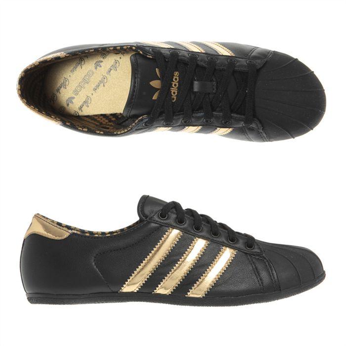 adidas femme or noir